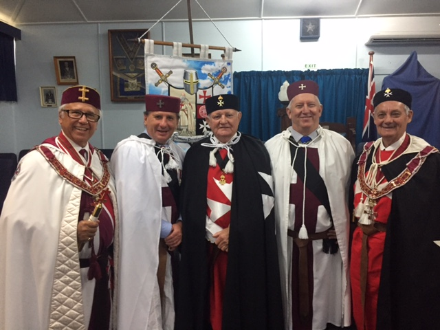 New Knights for Alpha and Cooroora Preceptories